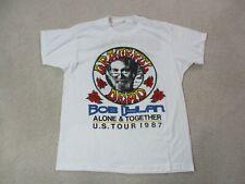 VINTAGE Grateful Dead Concert Shirt Adult Extra Large 1987 Bob Dylan Rock Mens *