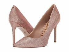 Sam Edelman Hazel Pointed Toe Rose Gold Glitter Heels 1323 Size 10 M