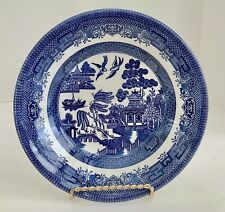 """Churchill England Blue Willow Ware 8"""" Soup Bowl"""