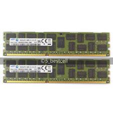 Samsung 32GB 2x16GB MODULE PC3-14900R 2RX4 DDR3 1866MHZ RDIMM REG ECC MEMORY Ram