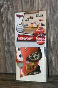 NIP Disney Pixar Cars 2 Peel and Stick Wall Decals 26 Decals (S-1232