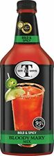 Mr and Mrs T Bloody Mary Bold Spicy Cocktail Mixer 1.75 Liter Bottle 6 Pack New