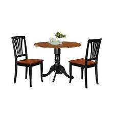 """East West Furniture 3-piece Kitchen Nook Dining Table Set """"black/cherry"""" Finish"""