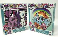 """My Little Pony Puzzles 48 pieces NEW age 6+ Finished Size 9.1"""" x 10.3"""" 2 Lot"""