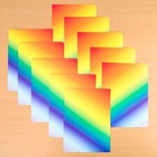 10 x A4 Shiny Rainbow Card 170gsm/230mic NEW