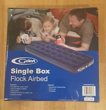 GELERT single box Flock Airbed BNIP navy blue