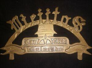 Vintage Viejitos Car Club Plaque Sign Original *Rare*