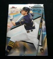 C70 2020 Topps Finest Christian Yelich REFRACTOR Milwaukee Brewers - 100