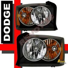 2005-2007 Dodge Dakota ST SLT Laramie Housing Headlights RH LH Black