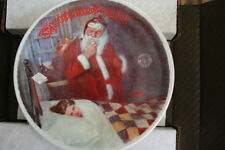 "1986 Norman Rockwell ""Deer Santy Claus"" Collector Plate"