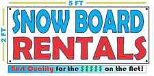 SNOW BOARD RENTALS All Weather Banner Sign NEW 2X5