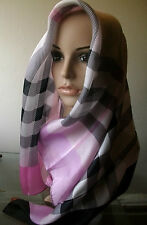 Awesome  pure Silk luxurious weightless scarf lavender /black/ white /pink SALE!