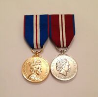 Swing Mounted Golden Jubilee Medal & Diamond Jubilee, Full Size, Army, Military