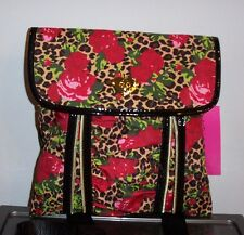 NWT BETSEY JOHNSON Unzipped Cross Body *CHEETAH BLOSSOM NATURAL*  SO CUTE!