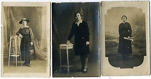 LOT 3 Photos, Personnages Anonymes, Portrait de Femme  ( pas d'indications ) (4)
