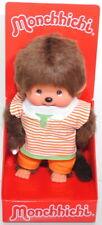 Monchhichi 222960 Orange Stripe Boy (Junge mit orangem Shirt), 20 cm, Sekiguchi