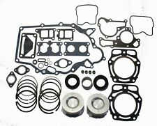 John Deere FD620 FD661 Engine Gasket Rebuild Kit w/ 2 Standard Pistons and Rings