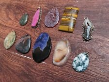 Crystal Pendant Necklace Lot Of 10 Gemstone Wholesale Group 5 Stone Jewelry