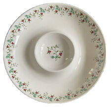Pfaltzgraff Winterberry Chip & Dip 14in Christmas Serving Dish