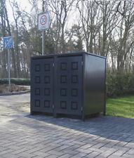 2 Mülltonnenboxen Modell No.5 Anthrazit komplett RAL7016 für 240Liter Mülltonnen