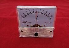 DC Minus Zero Plus -10V-+10V Analog 85C1 56*64mm  Voltage Analogue Panel meter