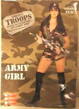 Smiffy's Troops Army Girl Fancy Dress Costume, Size UK MEDIUM