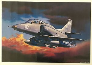 FIGHTER SKYHAWK II AIRPLANE BY EGBERT FRIEDL,AUTHENTIC 1998 POSTER