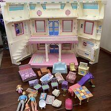 *Vintage 1993 Fisher Price Loving Family DREAM DOLLHOUSE Folding Doll House 6364