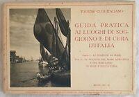 TOURING CLUB ITALIANO GUIDA PRATICA MARE ADRIATICO MAR IONIO RODI LIBIA 1933