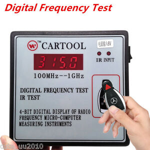 Digital Frequency Test Car IR Infrared Remote Key Tester 100MHz--1GHz Universal