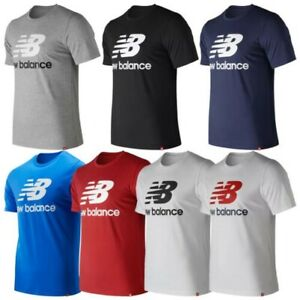 New Balance Mens Essentials Stacked Logo T-Shirt NB Sports Gym Training Top
