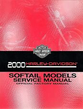 2000 Harley Softail FLS FXC Repair Service Workshop Shop Manual Book 99482-00A