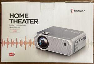 Bomaker GC355 Wireless Screen Mirroring Wi-Fi Projector White