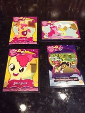 Lot of 4 My Little Pony trading cards babs seed buzz off apple bloom squeezy