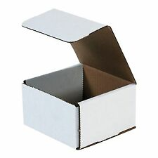 50- 5x5x3 White Corrugated Carton Cardboard Packaging Shipping Mailing Box Boxes