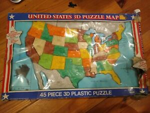 United States 3D 45 Piece Plastic Puzzle Map