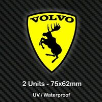 2x VOLVO PRANCING MOOSE Stickers Car Body Window Decals Badge Crest R XC30 V40