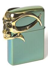 Zippo Golden Gothic Skull limited Chameleon  XXX/1000 im Zippo Magnetrahmen