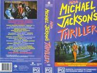 MICHAEL JACKSON MAKING MICHAEL JACKSON'S THRILLER VHS PAL VIDEO~ A RARE FIND