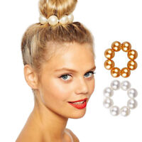 Fashion Women Elastic Pearl Hair Rope Tie Hair Ring Ponytail Holder Scrunchies