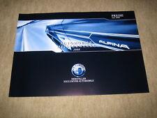 BMW Alpina D3, B3, B5 S,  B6 S Preisliste price list von 7/2008