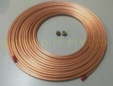 """Air-Con pipe tube /copper pancake coil  3/8"""" x 3M roll & 2 pcs 3/8"""" flare nuts"""