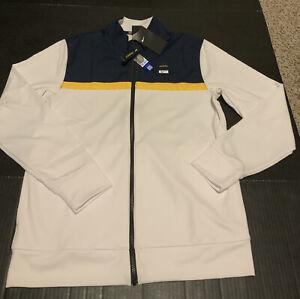 Michigan Wolverines Nike Track Jacket Modernized White Men's Size Small NWT