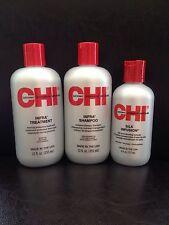 CHI (Set of 3)- INFRA Treatment (12oz)/ INFRA Shampoo (12oz)/ Silk Infusion 2oz