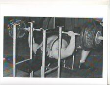Powerlifter Pat Casey Bench Press 592 lbs Bodybuilding Muscle Photo B+W
