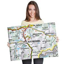 A1 - Kitzbuhel Austria Town Europe Travel Map 60X90cm180gsm Print  #45478