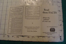 vintage car paper: READ THE FACTS--about the Radiator of your car NoVap--EARLY