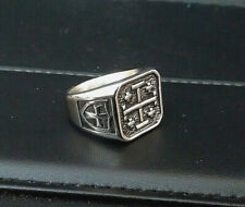 "The Jerusalem Cross, Powerful Symbol DYBBUK PROTECTION  PINKY RING ""Q"""