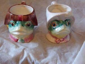 Majolica Frog Mugs (REDUCED)