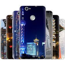 dessana China Metropole Silikon Schutz Hülle Case Handy Tasche Cover für Huawei